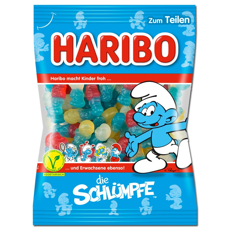 Haribo-Schlümpfe-200g-5-Beutel
