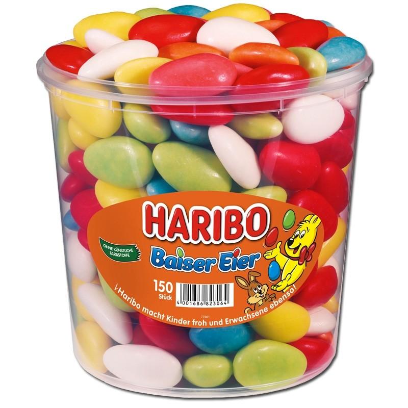 Haribo-Baiser-Eier-Schaumzucker-Dragee-150-Stück