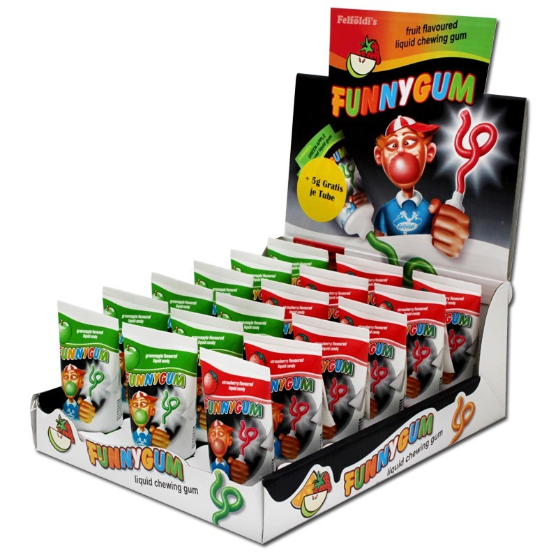 Funny-Gum-Tuben-Kaugummi-Apfel-und-Erdbeer-18-Stueck
