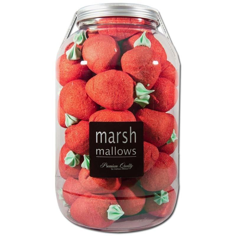 Riesen-Schaumzucker-Erdbeeren-mit-Blatt-40-Stueck