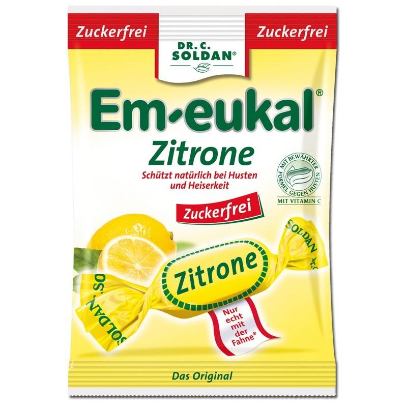 Em-eukal-Zitrone-zuckerfrei-75g-Hustenbonbon-20-Beutel
