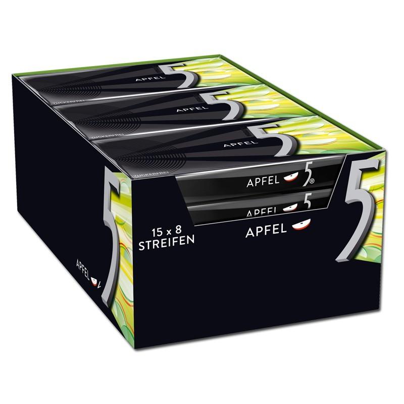 Wrigley-5-Gum-Apfel-Kaugummi-15-Packungen