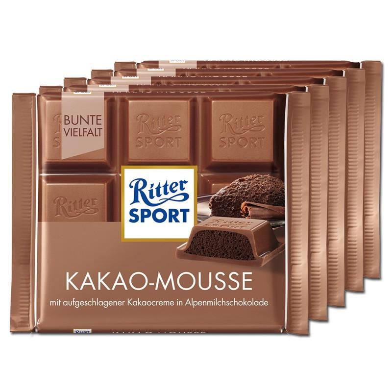 Ritter-Sport-Kakao-Mousse-100g-Schokolade-5-Tafeln