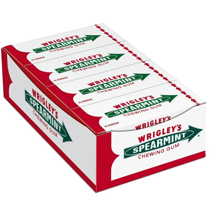 Wrigleys-Spearmint-Kaugummi-8-Packungen