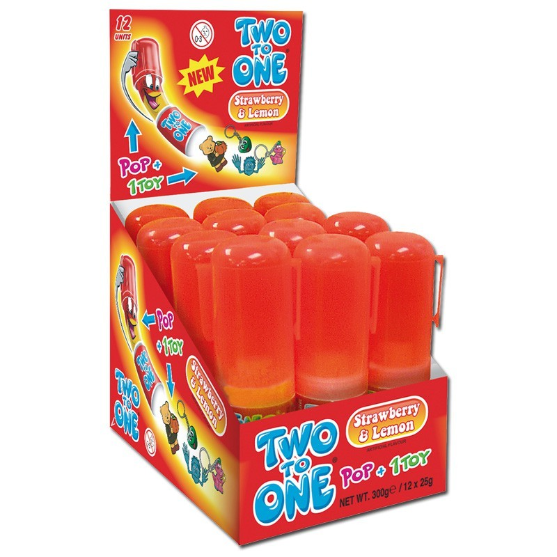 Two-to-One-Strawberry-Lemon-Lutscher-mit-Spielzeug-12-Stueck