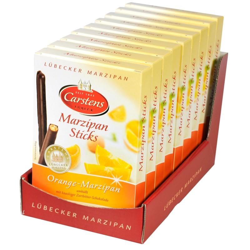 Carstens-Luebecker-Marzipan-Sticks-Orange-9-Packungen