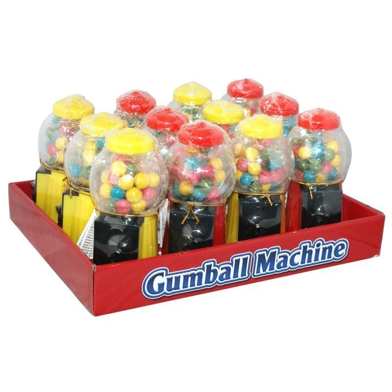 Gumball-Machine-Mini-Kaugummi-Automat-gefuellt-12-Stueck