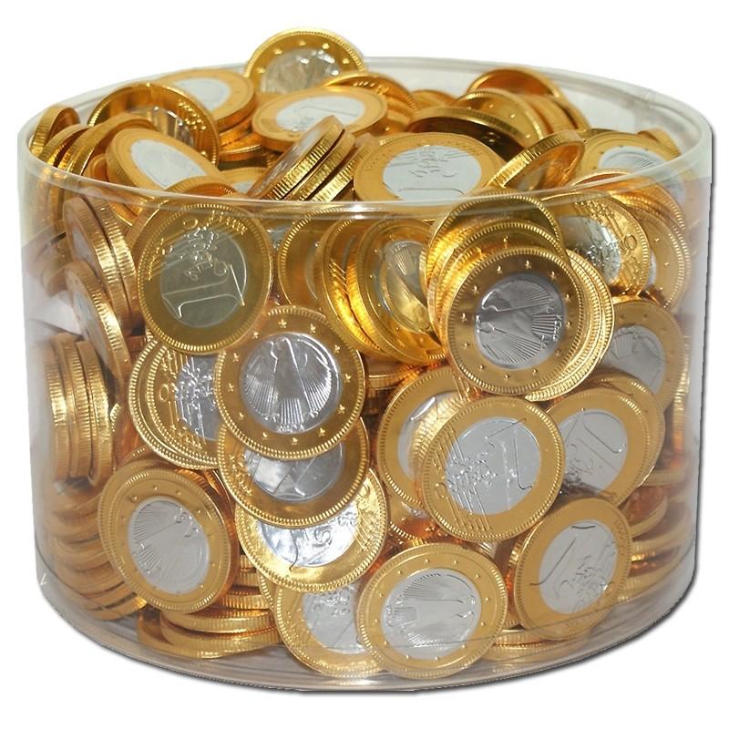 Milch-Schokoladen-Euro-Münzen-Schokoladen-Taler-360-Stk