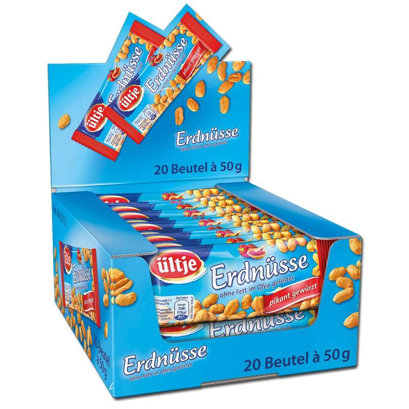 Ültje-Erdnüsse-pikant-gewürzt-50g-Nüsse-20-Beutel