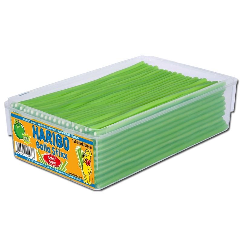 Haribo-Balla-Stixx-Saurer-Apfel-Fruchtgmmi-Konfekt-150-Stk