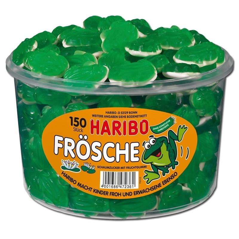 Haribo-Frösche-Fruchtgummi-Schaumzucker-150-Stück