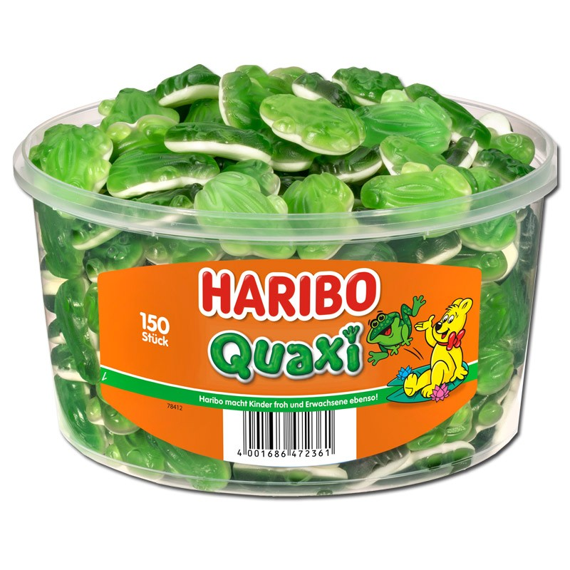 Haribo-Quaxi-Frösche-Fruchtgummi-Schaumzucker-150-Stück