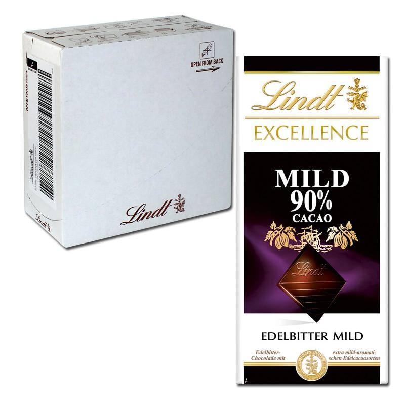 Lindt-Excellence-Mild-90Prozent-Cacao-100g-Schokolade-20-Tafeln
