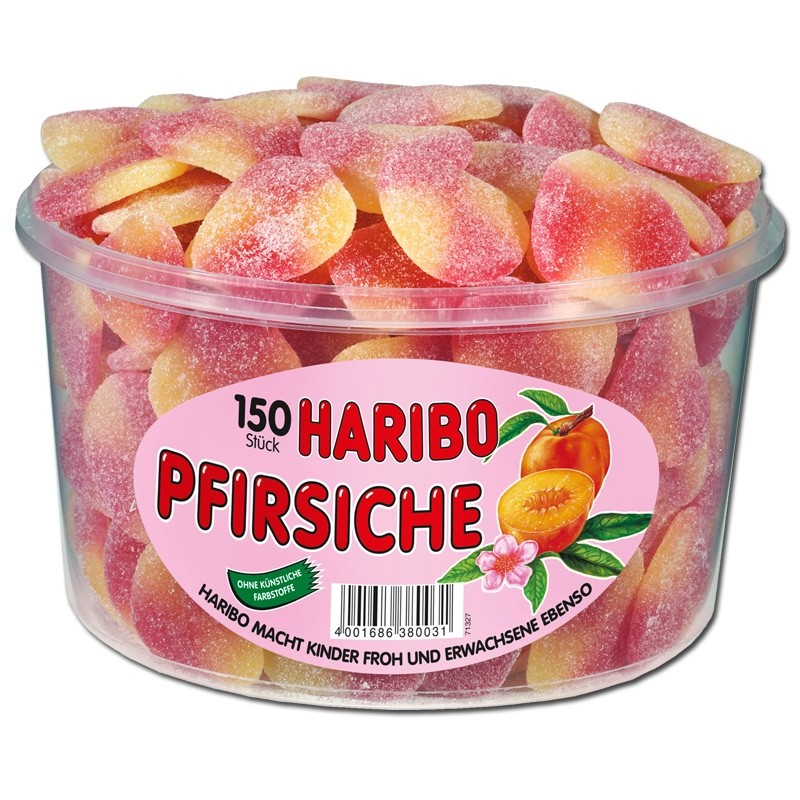 Haribo-Pfirsiche-Fruchtgummi-sauer-150-Stück