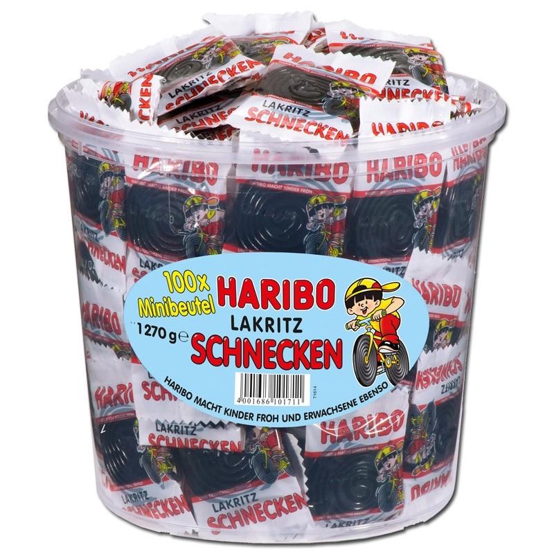 Haribo-Lakritz-Schnecken-Rotella-Minibeutel-100-Stück