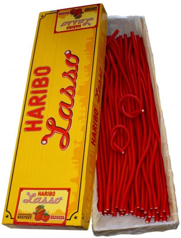 Haribo-Lasso-Erdbeer-Konfekt-Schlangen-65-cm-50-Stk