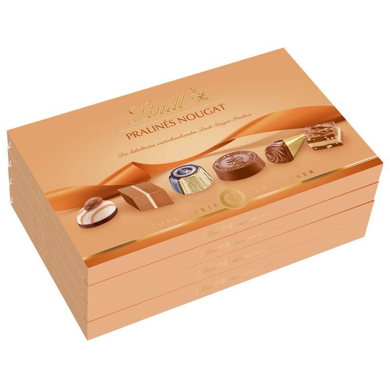 Lindt-Pralines-Nougat-200g-Schokolade-4-Packungen