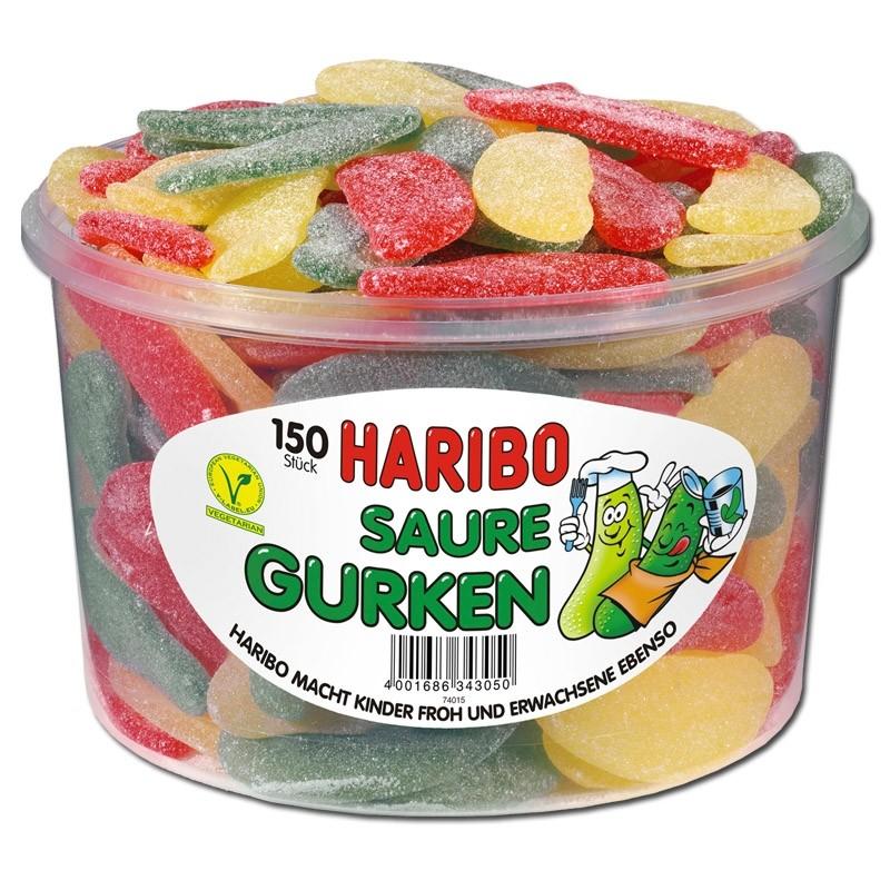 Haribo-Saure-Gurken-Fruchtgummi-sauer-150-Stück
