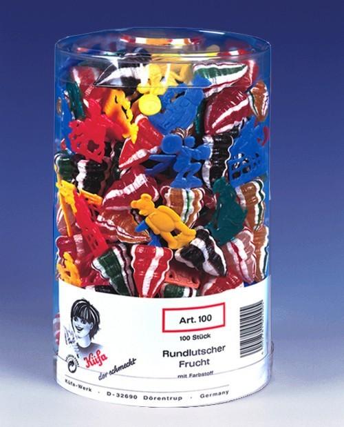 Kuefa-Kreisel-Rund-Lutscher-Frucht-Lolly-100-Stueck