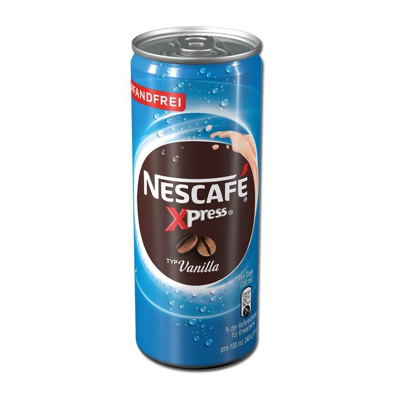 Nescafe-Xpress-Vanilla-250ml-Kaffeegetraenk-12-Dosen