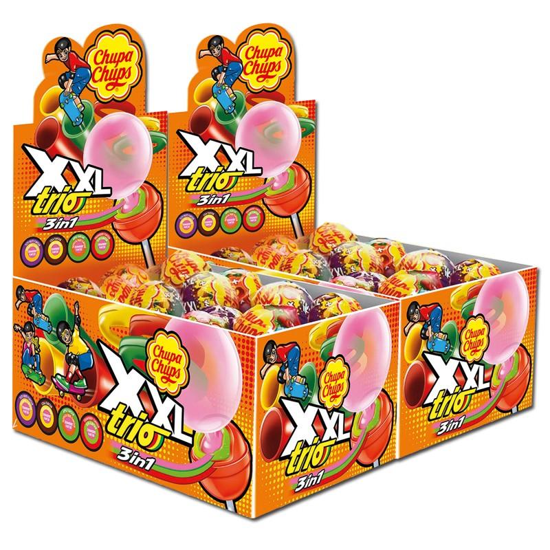 Chupa-Chups-XXL-TRIO-Lutscher-Lollipop-und-Kaugummi-50-Stück