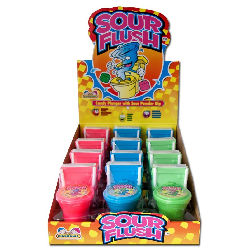 Toilette-Sour-Flush-Candypulver-Lutscher-Lolli-12-Stueck