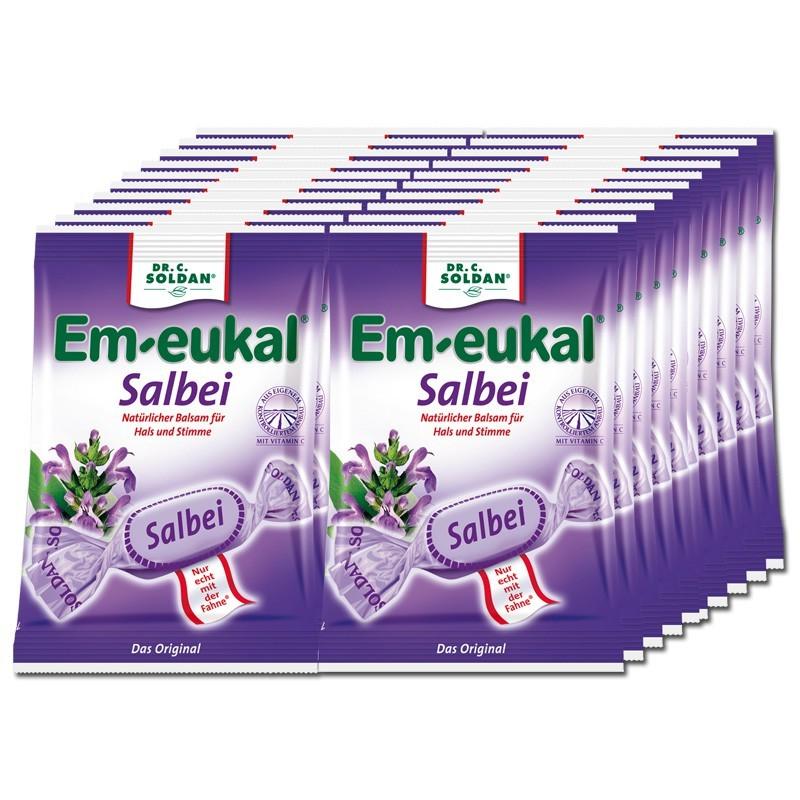 Em-eukal-Salbei-Bonbons-75g-Hustenbonbon-20-Beutel