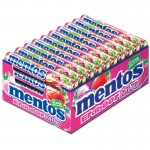 Mentos-Erdbeer-Mix-Rolle-Kaubonbon-Dragee-40-Stück