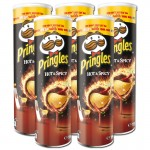 Pringles-Hot-und-Spicy-Chips-190g-Dose-5-Stueck
